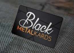 black metal business cards