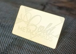 Gold Finish Business Cards