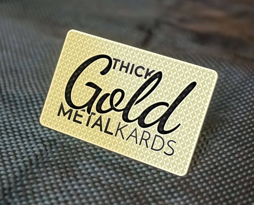 Thick Gold Business Card