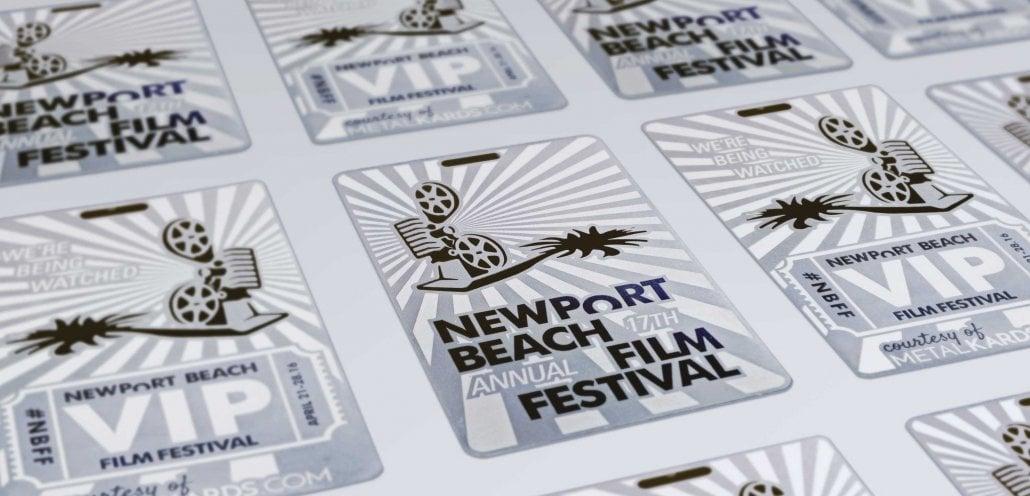 Metal VIP Cards for Newport Beach Film Festival