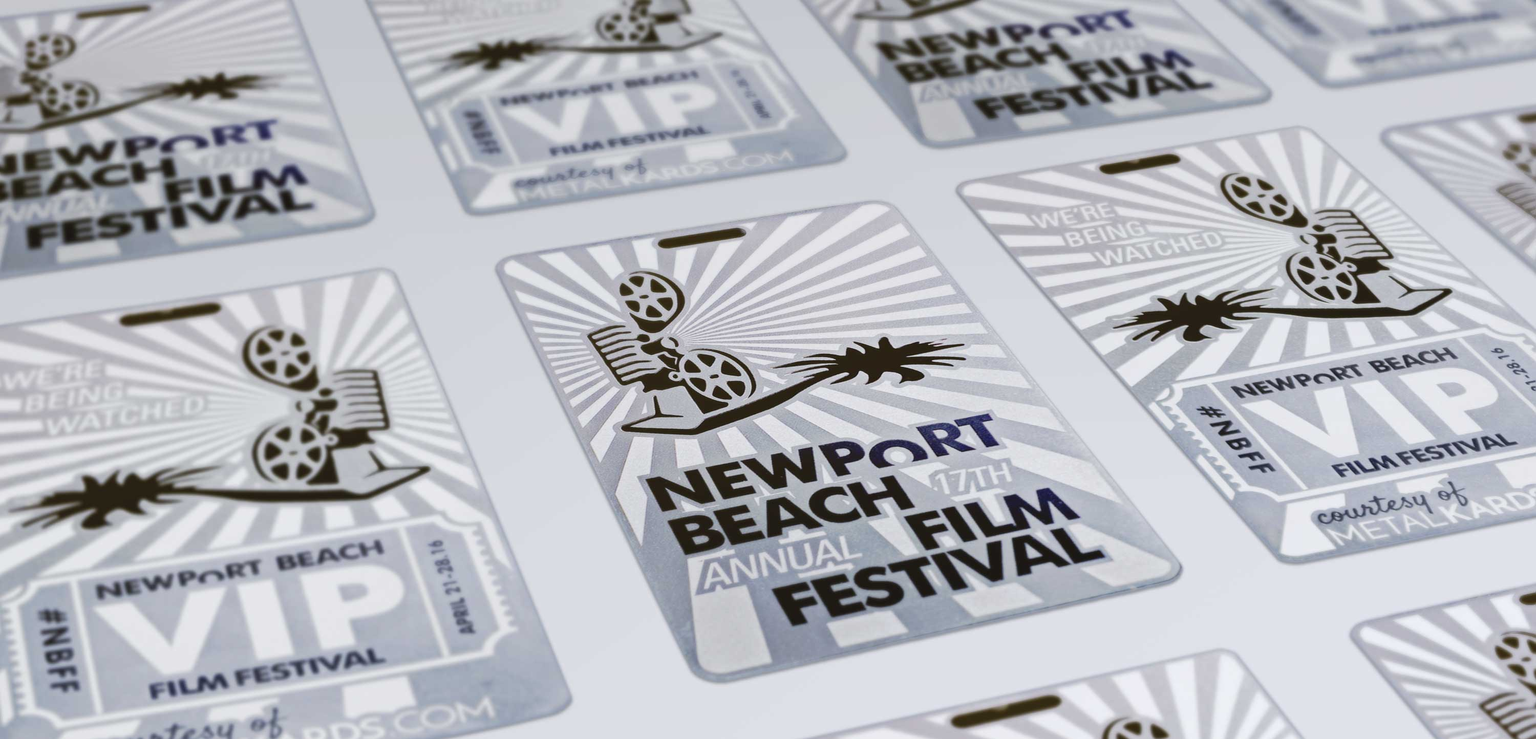 Metal VIP Cards for Newport Beach Film Festival