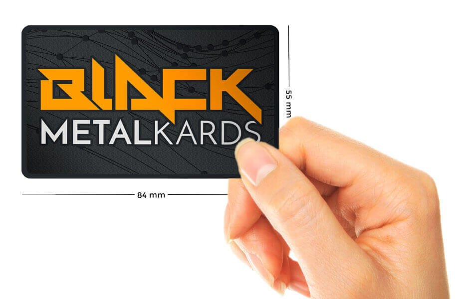 black metal card